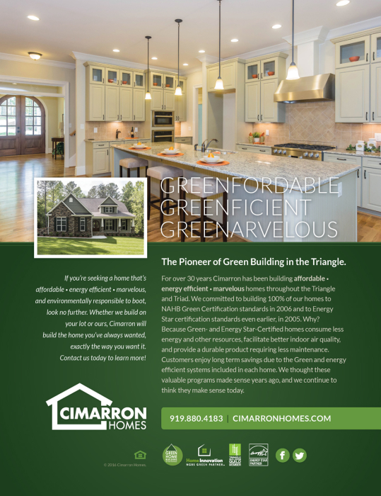 2016 Parade Of Homes Tour Guide Ad Cimarron Homes